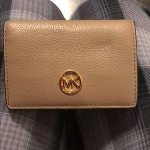 Small taupe Michael Kors wallet